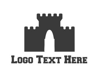 Fortress - Black Castle logo design
