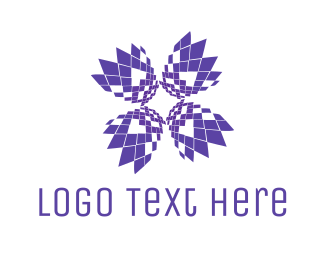 Ai -  Pixel Bloom logo design