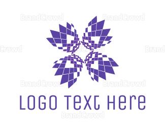 Technological -  Pixel Bloom logo design