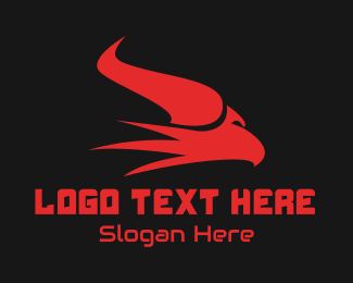 Game Vlogger - Esports Gaming Horn Eagle logo design