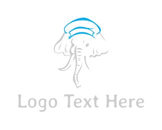 Tusk - Elephant Hat logo design