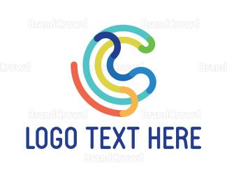 Enamel - Abstract C Outline logo design