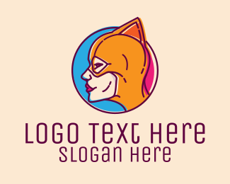 Wrestler - Wrestler Female Superhero logo design
