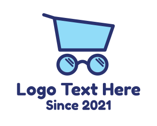 Glasses - Glasses Push Cart logo design