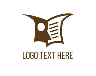 Teacher - Owl Book logo design