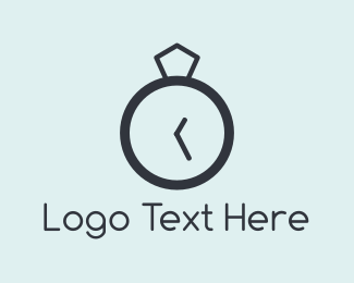 Wedding Planner - Ring Clock logo design