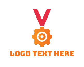 Reward - Gear Medal  logo design