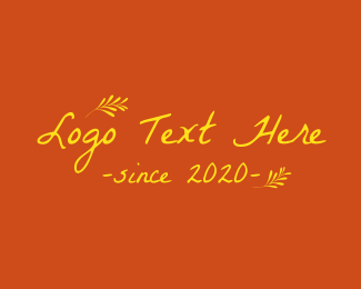 Rising - Summer Yellow Text logo design