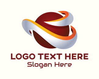 Galactic - 3D Orbit Planet logo design