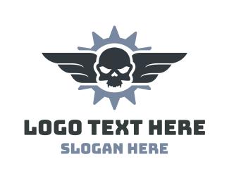 Fly - Flying Skull logo design