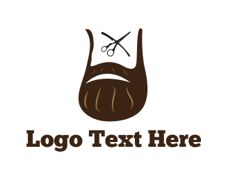 Brown Man - Hipster Beard logo design