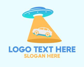 Alien - Alien Car UFO logo design