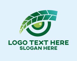Optical - Leaf Optical Eye  logo design