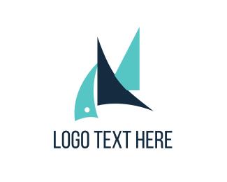 Transport - Blue Sailboats logo design