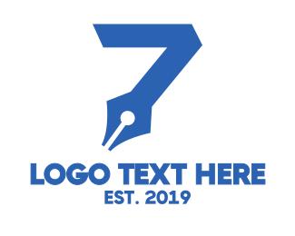 Number 7 - Seven Ink logo design