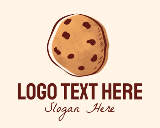 Confectionery - Chocolate Chip Cookie Biscuit logo design