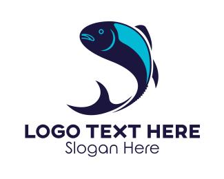 Fish Market - Blue Tuna logo design