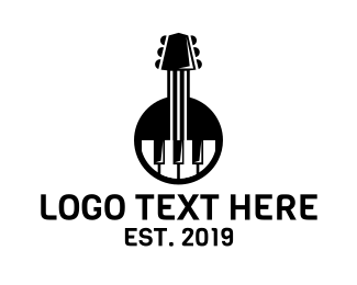 Piano Lessons - Guitar Piano Band logo design
