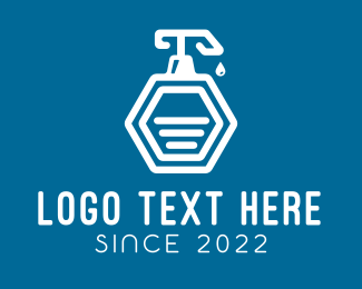 Disinfect - Liquid Soap Bottle logo design