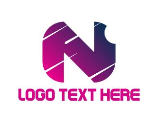 Comet - Nightfall Letter N logo design