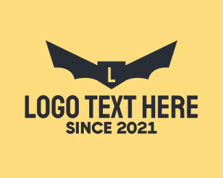 Bat - Bat Wings Lettermark  logo design