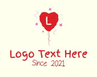 Valentine - Valentine Balloon Letter logo design