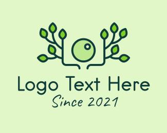 Leafy - Green Nature Camera logo design