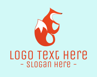 Fox - Cute Red Fox logo design