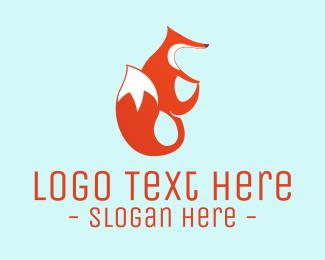 Tail - Cute Red Fox logo design