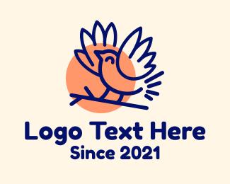 Finch - Finch Bird Sun logo design