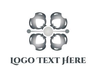 Industrial Flower Logo