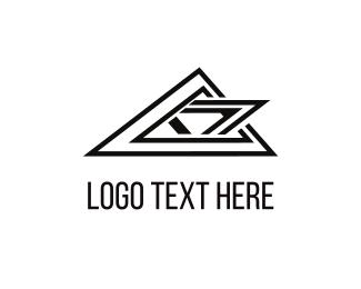 Triangular - Black Peaks logo design