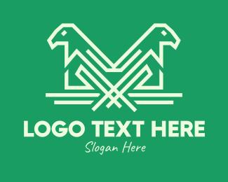 Simple - Simple Eagle Line Art logo design