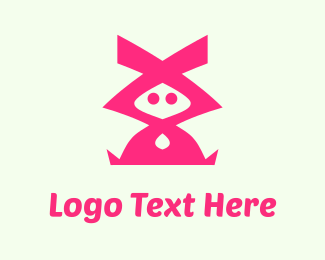 Character - Pink Character logo design