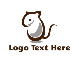Little - White Mouse logo design