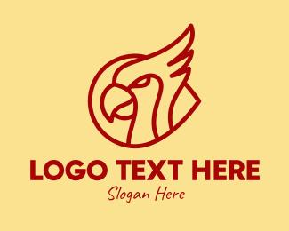 Jungle - Red Robin Bird logo design