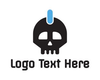 Power - Power Skull logo design