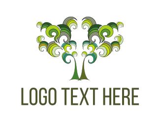 Psychedelic - Olive Tree logo design