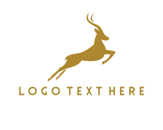 Gazelle - Golden Gazelle logo design