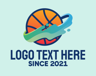 Sports Technology - Basketball Shot  logo design