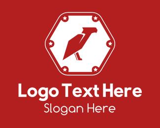 Security - Red Eagle Badge logo design