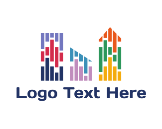 Nyc - Colorful City logo design