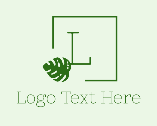 Montsera - Tropical Green Lettermark logo design