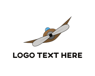 Aviator - Plane Propeller logo design