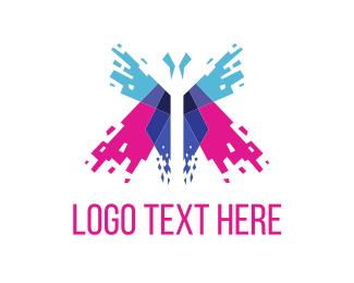 Pixel - Butterfly Spark logo design