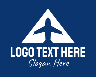 Airway - Blue Airplane A logo design
