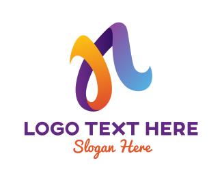 Pedicure - Colorful N Script logo design