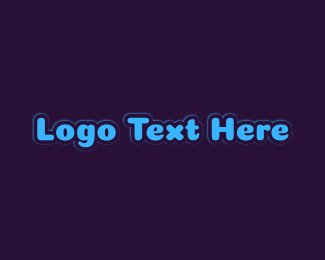 Bright Blue Wordmark Logo