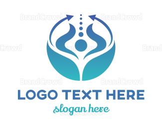 Rotate - Blue Horn Arrow logo design