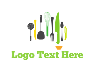 Hospitality - Kitchen Tools logo design